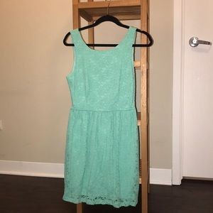 LULUs mint green lace dress
